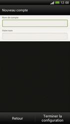 HTC One S - E-mail - Configuration manuelle - Étape 15