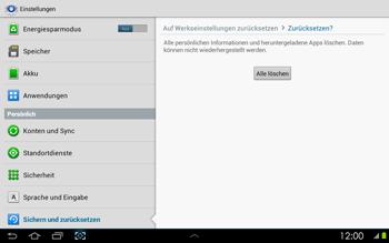 Samsung P5100 Galaxy Tab 2 10-1 - Fehlerbehebung - Handy zurücksetzen - Schritt 9
