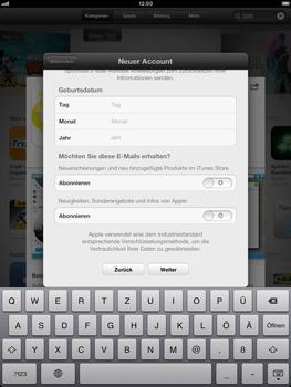 Apple iPad Retina - Apps - Einrichten des App Stores - Schritt 17