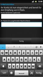 Sony Xperia S - E-Mail - Konto einrichten - 0 / 0