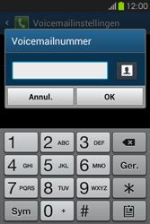 Samsung S6810P Galaxy Fame - Voicemail - handmatig instellen - Stap 9