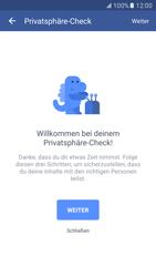 Samsung Galaxy S7 - Datenschutz und Sicherheit - Datenschutzeinstellungen von Facebook ändern - 7 / 35