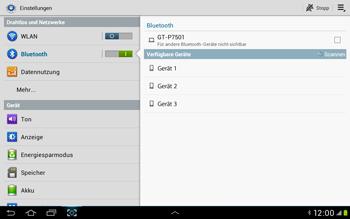 Samsung Galaxy Tab 2 10.1 - Bluetooth - Verbinden von Geräten - Schritt 6