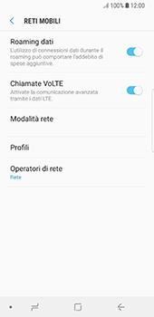 Samsung Galaxy S8 - Android Oreo - Internet e roaming dati - Disattivazione del roaming dati - Fase 6