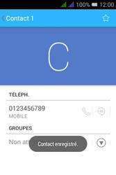 Alcatel Pixi 3 Dual Sim - Contact, Appels, SMS/MMS - Ajouter un contact - Étape 8