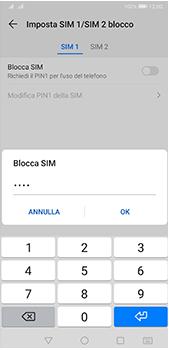 Huawei P20 Pro - Android Pie - Operazioni iniziali - Come abilitare il pin della SIM - Fase 10