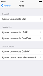 Apple iPhone 5s (iOS 8) - E-mails - Ajouter ou modifier un compte e-mail - Étape 6
