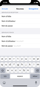 Apple iPhone X - iOS 13 - E-mail - configuration manuelle - Étape 14