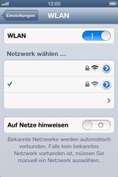 Apple iPhone 4S - WLAN - Manuelle Konfiguration - Schritt 7