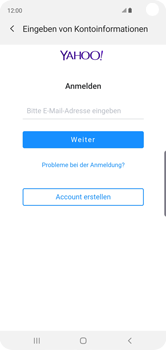 Samsung Galaxy S10 - E-Mail - 032b. Email wizard - Yahoo - Schritt 7