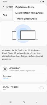 Samsung Galaxy A70 - WiFi - So aktivieren Sie einen WLAN-Hotspot - Schritt 8