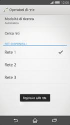 Sony Xperia Z2 - Rete - Selezione manuale della rete - Fase 10