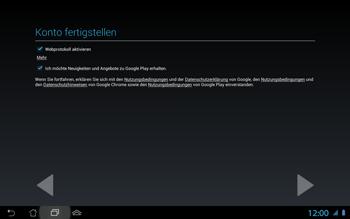 Asus Padfone 2 - Apps - Konto anlegen und einrichten - Schritt 12