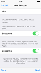 Apple iPhone 5c - iOS 8 - Applications - Setting up the application store - Step 18