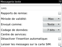 BlackBerry 9900 Bold Touch - SMS - Configuration manuelle - Étape 6