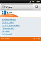 Sony Xperia Arc S - Internet - Navigation sur Internet - Étape 11