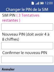 Alcatel 3088X - Sécuriser votre mobile - Personnaliser le code PIN de votre carte SIM - Étape 6