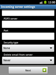 Samsung Galaxy Pocket - E-mail - Manual configuration - Step 10