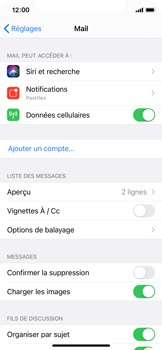 Apple iPhone 11 Pro - iOS 14 - E-mail - 032c. Email wizard - Outlook - Étape 4