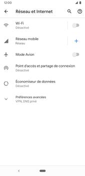 Google Pixel 3a - Internet et connexion - Désactiver la connexion Internet - Étape 5