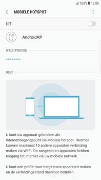 Samsung Galaxy S6 edge+ - Android Nougat - WiFi - Mobiele hotspot instellen - Stap 7