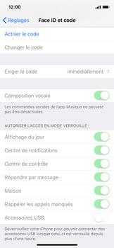 Apple iPhone XS - Sécurité - activéz le code PIN de l'appareil - Étape 4