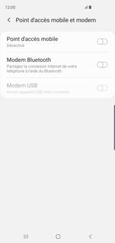 Samsung Galaxy S10 - Internet et connexion - Utiliser le mode modem par USB - Étape 6