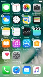 Apple iPhone 5s iOS 10 - Operazioni iniziali - Personalizzazione della schermata iniziale - Fase 3