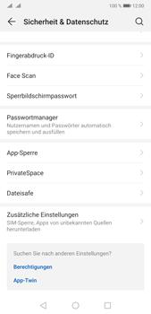 Huawei P20 Pro - Android Pie - Startanleitung - So aktivieren Sie eine SIM-PIN - Schritt 4