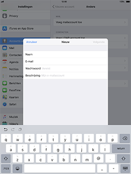 Apple iPad Pro 10.5 inch - iOS 11 - E-mail - Account instellen (POP3 met SMTP-verificatie) - Stap 8