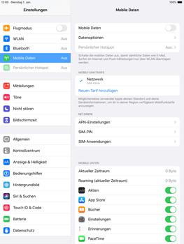 Apple ipad-10-2-7th-gen - Internet und Datenroaming - Prüfen, ob Datenkonnektivität aktiviert ist - Schritt 4