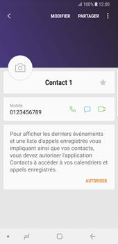 Samsung Galaxy S9 - Contact, Appels, SMS/MMS - Ajouter un contact - Étape 9