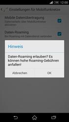 Sony Xperia Z3 - Ausland - Im Ausland surfen – Datenroaming - 9 / 12