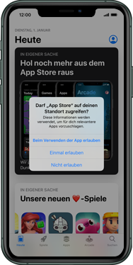 Apple iPhone XR - iOS 13 - Apps - Einrichten des App Stores - Schritt 4