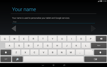 Sony Xperia Tablet Z2 LTE - Applications - Setting up the application store - Step 5