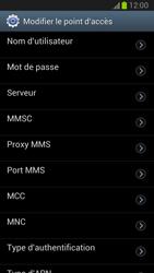 Samsung Galaxy Note II - Internet et roaming de données - Configuration manuelle - Étape 11