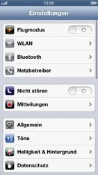 Apple iPhone 5 - Netzwerk - Netzwerkeinstellungen ändern - Schritt 3