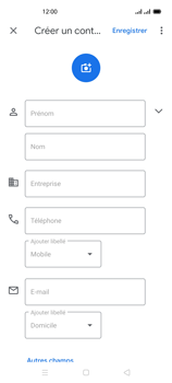 Oppo Reno 4 - Contact, Appels, SMS/MMS - Ajouter un contact - Étape 6