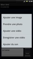 Sony Xperia Arc - MMS - Envoi d