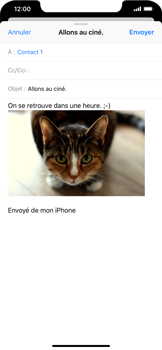 Apple iPhone XR - E-mails - Envoyer un e-mail - Étape 14