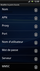Sony Xperia Ray - Internet - Configuration manuelle - Étape 8