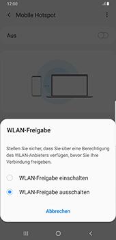 Samsung Galaxy S9 Plus - Android Pie - WiFi - So aktivieren Sie einen WLAN-Hotspot - Schritt 7