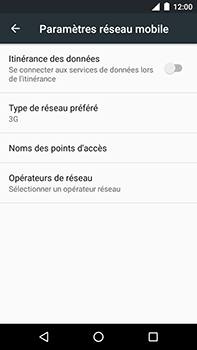 Motorola Moto E4 Plus - Internet et connexion - Activer la 4G - Étape 6