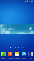 Samsung Galaxy S 4 Active - Getting started - Installing widgets and applications on your start screen - Step 9