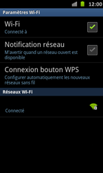 Samsung I9070 Galaxy S Advance - Wifi - configuration manuelle - Étape 8