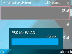 Nokia E71 - WLAN - Manuelle Konfiguration - Schritt 8