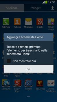 Samsung Galaxy Note III LTE - Operazioni iniziali - Installazione di widget e applicazioni nella schermata iniziale - Fase 5