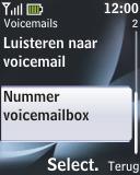 Nokia 2330 classic - Voicemail - handmatig instellen - Stap 6