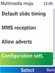 Nokia X2-00 - MMS - Automatic configuration - Step 10