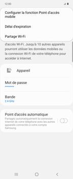 Samsung Galaxy Z flip - WiFi - Comment activer un point d'accès WiFi - Étape 8